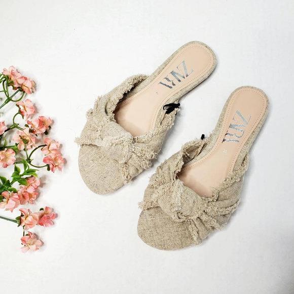 ZARA Knot Fringed Sandals NWT